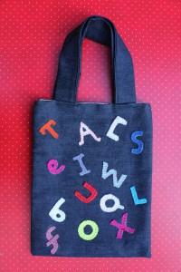 Kids Alphabet Denim Tote Bag
