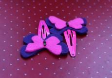 Beautiful Assorted Set of Felt Butterflies Hair Pins
