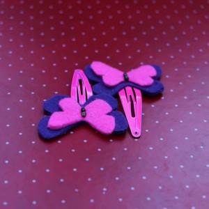 Butterfly hair felt pins